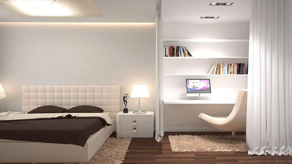 Ремонт комнаты с зонированием