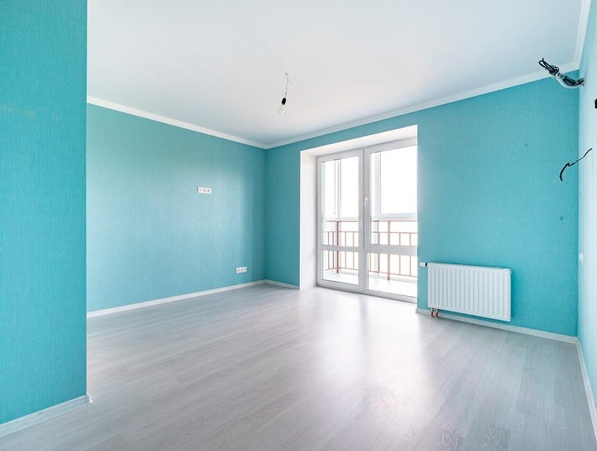 Косметический ремонт квартиры в бирюзовых цветах